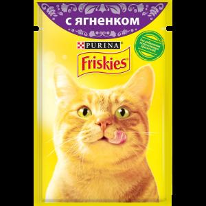 Влажный корм для кошек Friskies с ягненком в подливе (85гр)