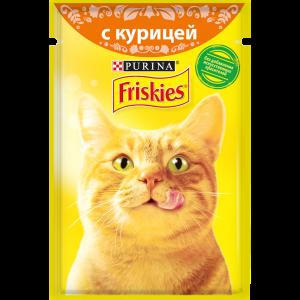 Влажный корм для кошек Friskies с курицей в подливе (85гр)