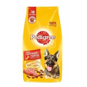 Cухой для взрослых собак крупных пород Pedigree с говядиной