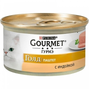Консервы для кошек Gourmet Gold, индейка (паштет)