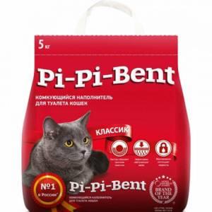Pi-Pi-Bent классик наполнитель для кошачьих туалетов, комкующийся, 5кг