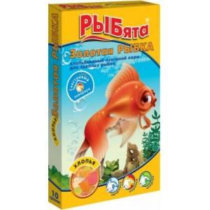 Корм для рыб ЗОО Рыбята, золотая рыбка,хлопья (10гр)