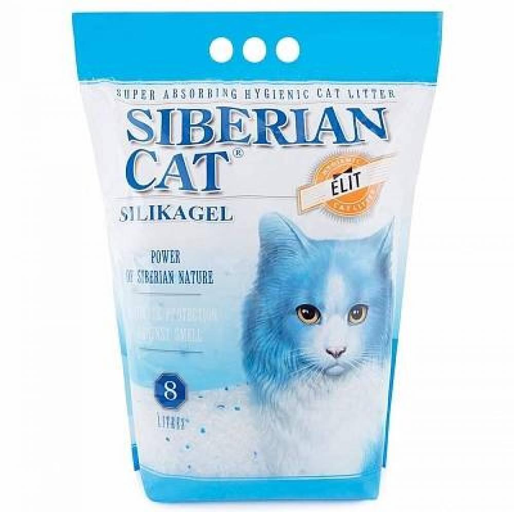Наполнитель для кошачьего туалета Сибирская Кошка Элита, силикагель (синие гранулы) 8л