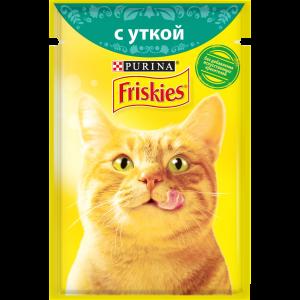 Влажный корм для кошек Friskies с уткой в подливе (85гр)