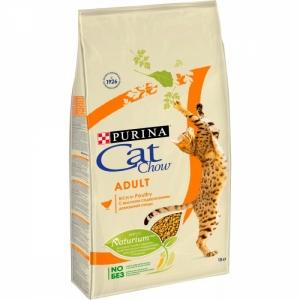 Корм для кошек Cat Chow Adult с домашней птицей и индейкой