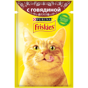 Влажный корм для кошек Friskies с говядиной в подливе (85гр)