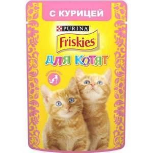 Консервы для котят Friskies Junior Курица кусочки в подливе (пауч) (85гр)