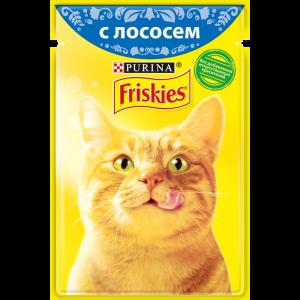 Влажный корм для кошек Friskies с лососем в подливе (85гр)