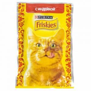 Консервы для кошек Friskies, индейка в подливе (пауч) (85гр)