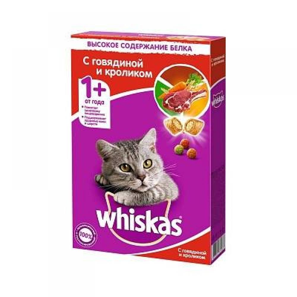Корм для кошек Whiskas подушечки нежный паштет говядина и кролик
