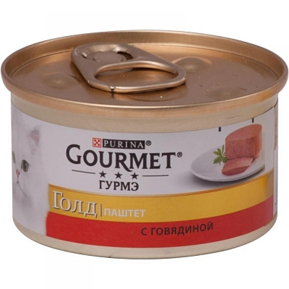 Консервы для кошек Gourmet Gold c говядиной