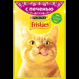 Влажный корм для кошек Friskies с печенью в подливе (85гр)