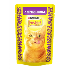 Консервы для кошек Friskies Adult, кусочки ягненка в подливе (пауч) (85гр)