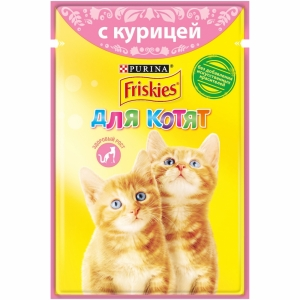 Влажный корм для котят Friskies, с курицей (85гр)