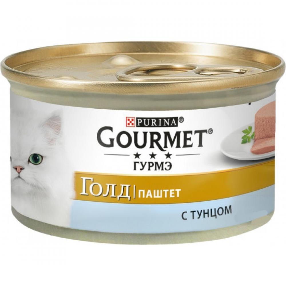 Gourmet Gold корм паштет для взрослых кошек, с тунцом