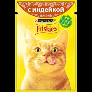 Влажный корм для кошек Friskies с индейкой в подливе (85гр)
