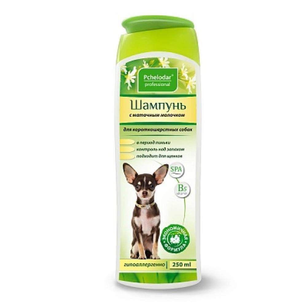 Шампунь для короткошерстных собак Пчелодар, с маточным молочком, 250 мл