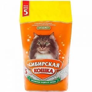 Наполнитель для кошачьего туалета Сибирская Кошка Бюджет