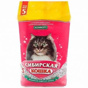 Наполнитель для кошачьего туалета Сибирская Кошка Комфорт