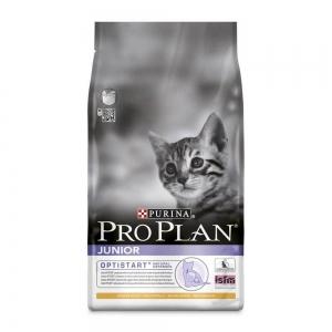 Сухой корм для котят от 6 месяцев до года Pro Plan Junior с комплексом Optistart, курица