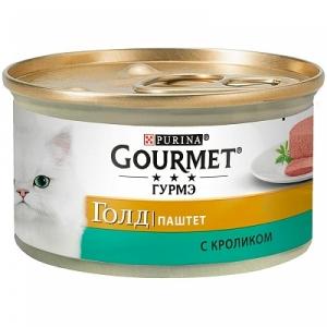 Консервы для кошек Gourmet Gold, кролик (паштет)