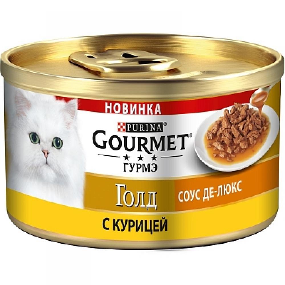 Влажный корм для кошек Gourmet Gold Соус Де-люкс с курицей в роскошном соусе