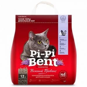 Наполнитель для кошачьего туалета Pi-Pi Bent Нежный прованс, крафт-пакет