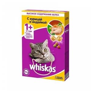 Корм для кошек Whiskas подушечки нежный паштет курица и индейка