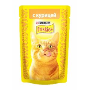 Консервы для кошек Friskies Adult, кусочки курицы в подливе (пауч) (85гр)