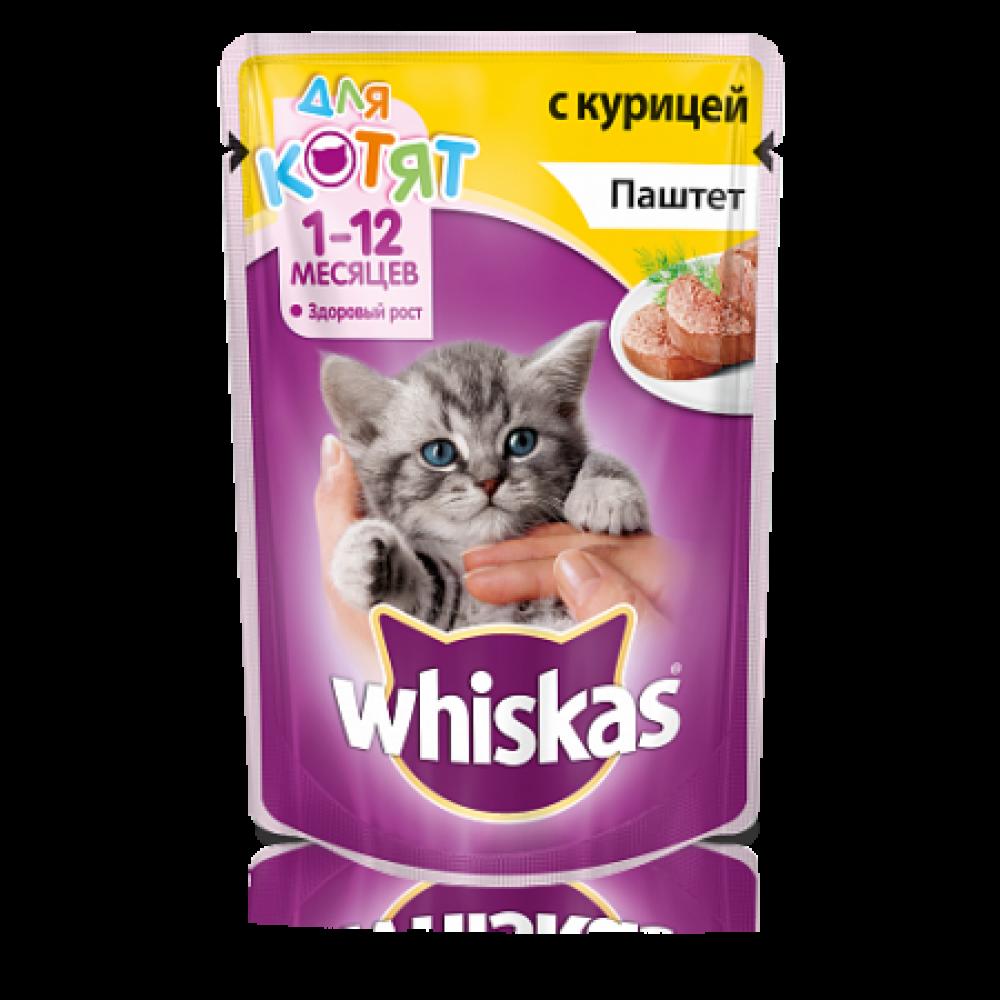 Whiskas для котят паштет с курицей (85гр)