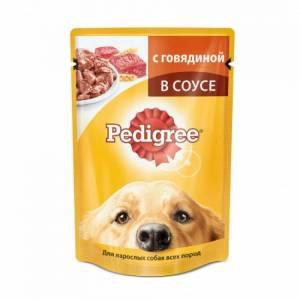 Pedigree влажный корм для взрослых собак всех пород с говядиной в соусе