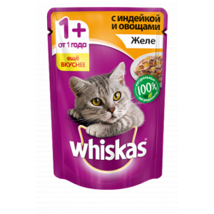 Whiskas желе с индейкой