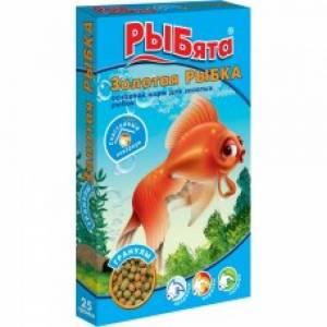 Корм для рыб ЗОО Рыбята, золотая рыбка, гранулы (25 гр)